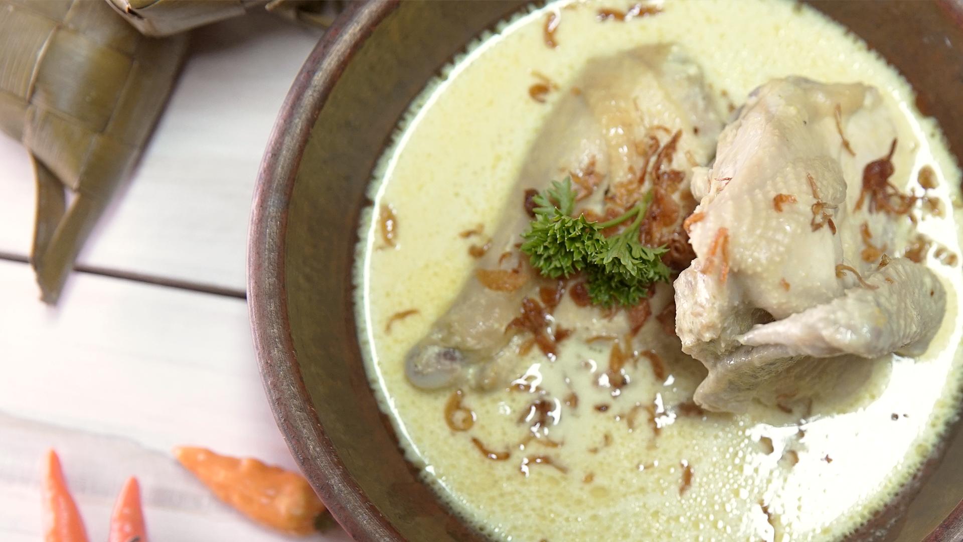 cara masak opor ayam bumbu putih